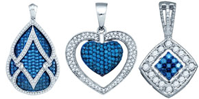 Blue Diamond Pendants