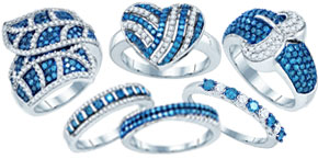 Blue Diamond Fashion Rings