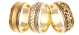 Designer Yellow Gold Bands