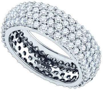Ladies Diamond Anniversary Band 14K White Gold 2.60 cts. GD-65738