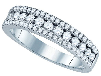 Ladies Diamond Anniversary Band 14K White Gold 0.69 cts. GD-76193