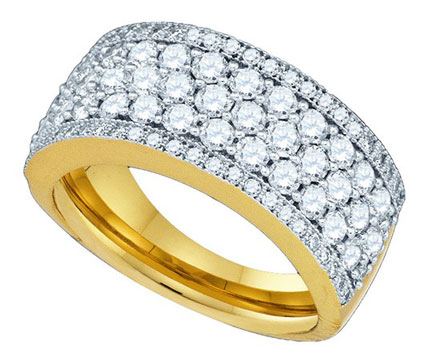 Ladies Diamond Anniversary Band 14K Yellow Gold 1.65 cts. GD-81223