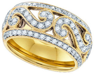 Ladies Diamond Anniversary Band 14K Yellow Gold 0.84cts. GD-84221