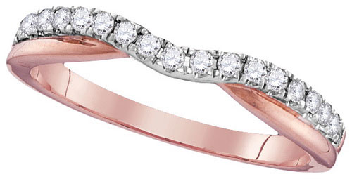 Ladies Diamond Band 10K Rose Gold 0.25 cts. GD-106212
