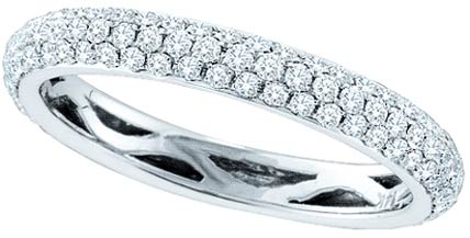 Ladies Diamond Band 14K White Gold 0.75 cts. GD-40266