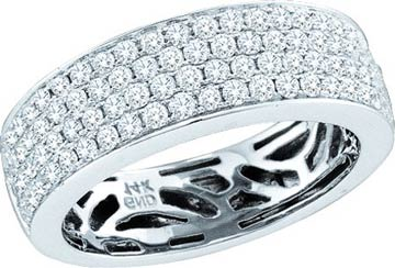 Ladies Diamond Band 14K White Gold 1.00 ct. GD-52313