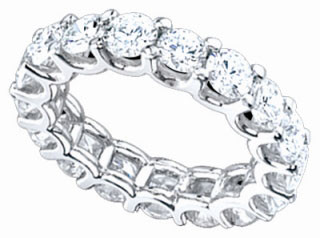 Ladies Diamond Eternity Band 14K White Gold 2 cts. DEB-2CT