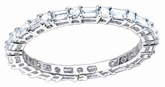 Ladies Diamond Eternity Band 18K White Gold 0.75 cts. S51-5
