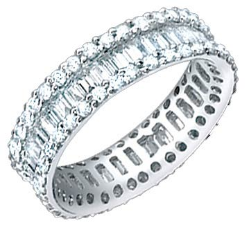 Ladies Diamond Eternity Band 18K White Gold 2.80 cts. S51-7