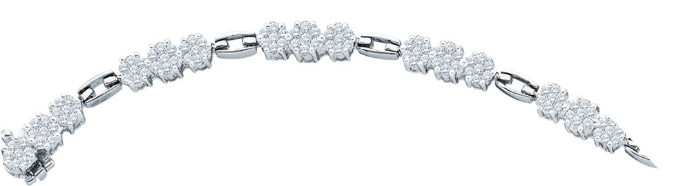Diamond Bracelet 14K White Gold 2.50 cts. GD-14290