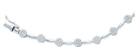 Diamond Bracelet 14K White Gold 2.00 ct. GD-9286