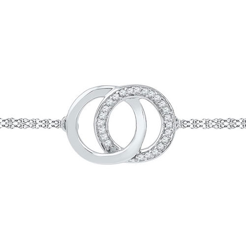 Diamond Fashion Bracelet 10K White Gold 0.07 cts. GD-97113