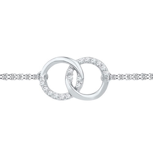 Diamond Fashion Bracelet 10K White Gold 0.10 cts. GD-97116
