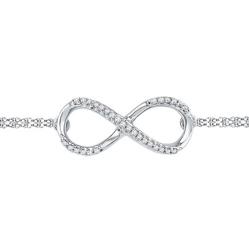 Diamond Infinity Bracelet 10K White Gold 0.10 cts. GD-97128