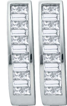 Diamond Cuff Earrings 14K White Gold 1.00 ct. GD-21114