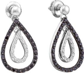 Ladies Diamond Fashion Earrings 14K White Gold 0.78 cts. GD-54594