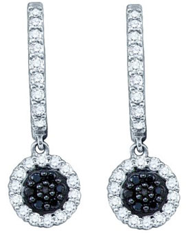 Ladies Diamond Fashion Earrings 10K White Gold 0.49 cts. GD-60369