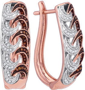 Ladies Diamond Fashion Earrings 10K Rose Gold 0.30 cts. GD-88332