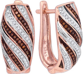 Ladies Diamond Fashion Earrings 10K Rose Gold 0.33 cts. GD-88333