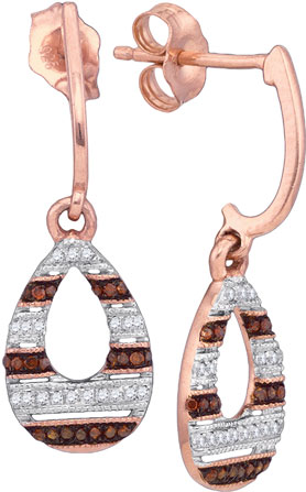 Ladies Diamond Fashion Earrings 10K Rose Gold 0.18 cts. GD-88436