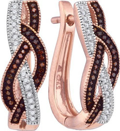 Ladies Diamond Fashion Earrings 10K Rose Gold 0.25 cts. GD-89964