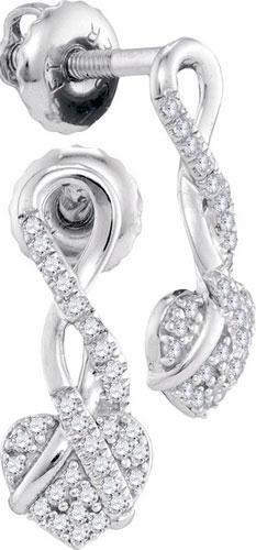 Diamond Fashion Earrings 10K White Gold 0.15 cts. GD-98326