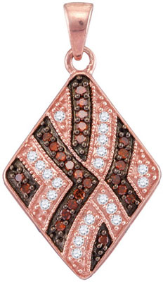 Red Diamond Fashion Pendant 10K Rose Gold 0.33 cts. GD-104318