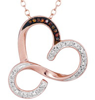 Diamond Infinity Heart Pendant 10K Rose Gold 0.13 cts. GD-93456