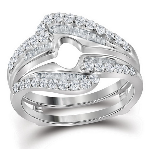 Diamond Ring Enhancer 14K White Gold 0.75 cts. GD-113097