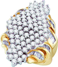 Diamond Cocktail Ring 10K Yellow Gold 3.00 ct. GD-10019