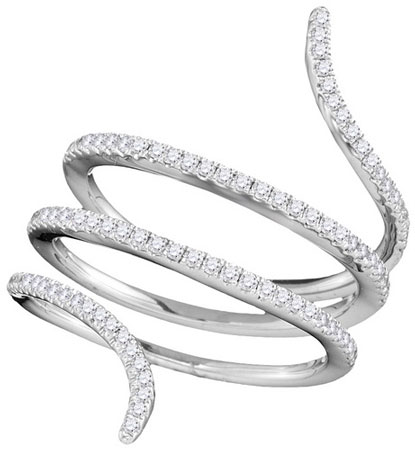 Ladies Diamond Fashion Ring 18K White Gold 0.44 cts. GD-103336