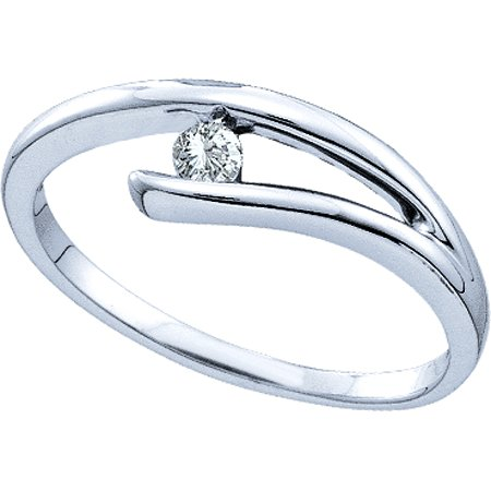 Ladies Diamond Fashion Ring 10K White Gold 0.08 cts. GD-26001
