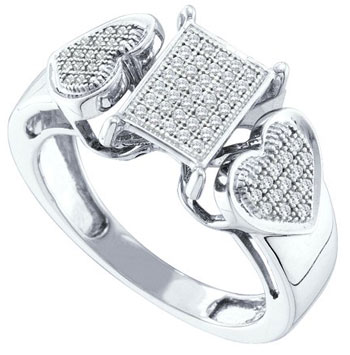 Ladies Diamond Fashion Ring 10K White Gold 0.20 cts. GD-55960