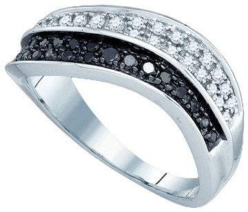 Black Diamond Fashion Ring 10K White Gold 0.33 cts. GD-79081