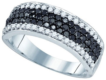 Black Diamond Fashion Ring 10K White Gold 1.00 ct. GD-79082