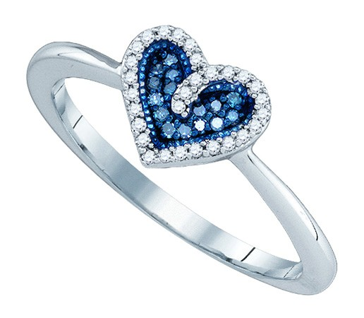 Ladies Diamond Fashion Ring 10K White Gold 0.10 cts. GD-81433