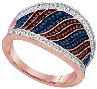 Ladies Diamond Fashion Ring 10K Rose Gold 0.40 cts. GD-88367