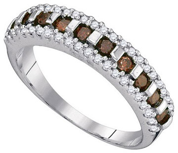 Ladies Diamond Fashion Band 10K White Gold 0.50 cts. GD-89397