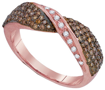Cognac Diamond Fashion Ring 10K Rose Gold 0.53 cts. GD-93971