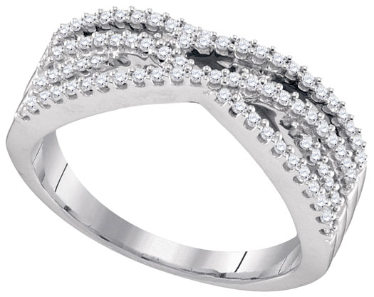 Ladies Diamond Fashion Band 10K White Gold 0.32 cts. GD-96586