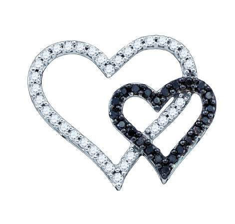 Diamond Heart Pendant 10K White Gold 0.53 cts. GD-72005