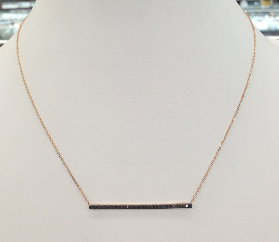Black Diamond Necklace 14K Rose Gold 0.30 cts. 6J7401