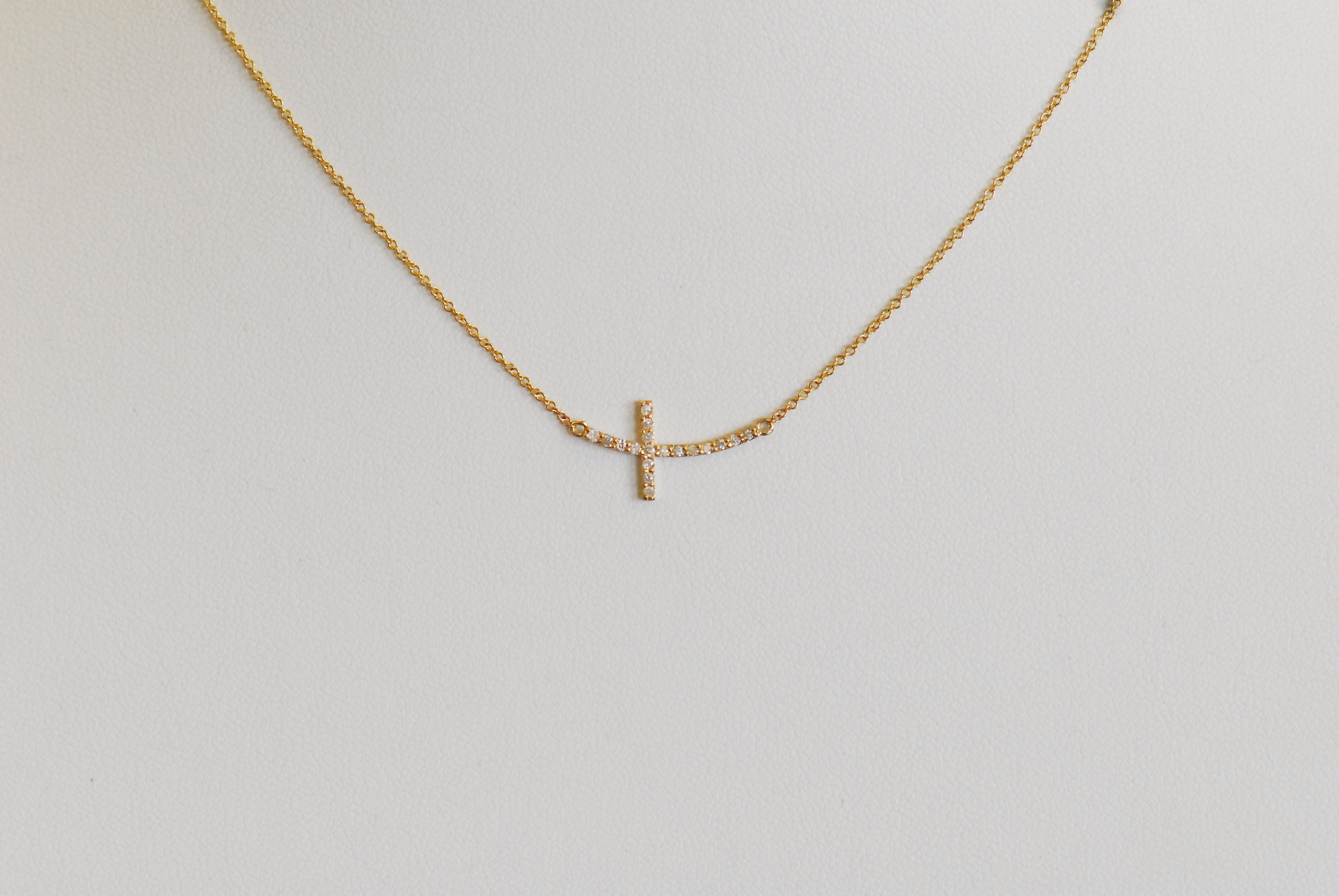 Cross Necklace Special Order 14K Yellow Gold 0.15 cts. 6J8319