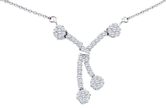 Diamond Necklace 14K White Gold 0.50 cts. GD-12081