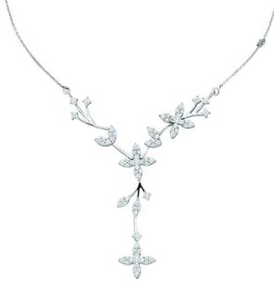Diamond Necklace 14K White Gold 2.00 ct. GD-18819
