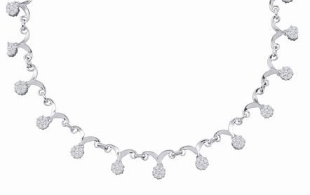 Diamond Necklace 14K White Gold 2.00 ct. GD-22357