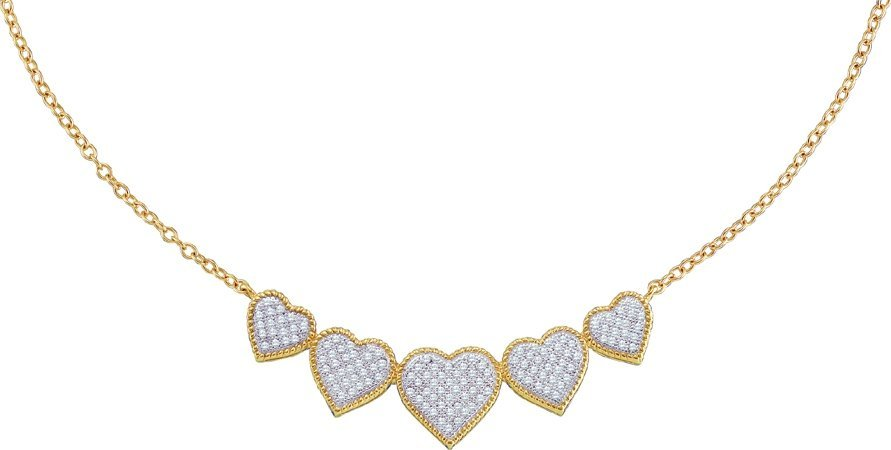 Diamond Heart Necklace 10K Yellow Gold 0.35 cts. GD-56045