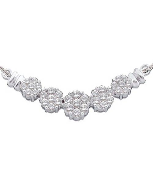 Diamond Necklace 14K White Gold 1.50 cts. GD-9612