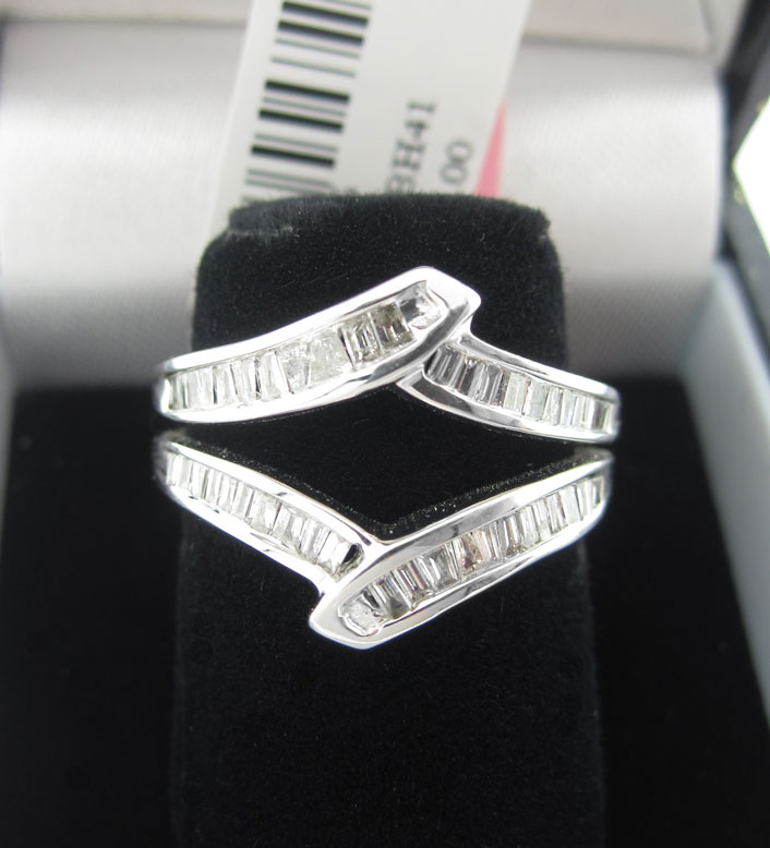 Diamond Ring Enhancer 14K White Gold 0.53 cts CL-14926