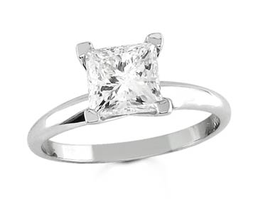 Diamond Solitaire Ring 14K White Gold 1.50 cts DSRP-0150